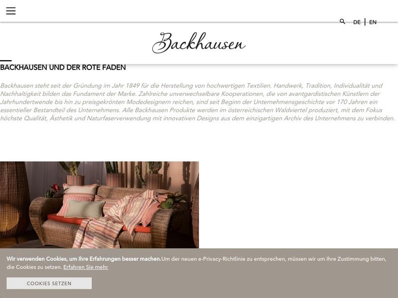 Screenshot von https://www.backhausen.com/